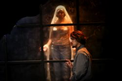 Ryan Sellers and Nora Achrati as Amal and Virgin Mary
