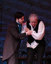 Ken Gaul (Anton Schindler) and Elliott Bales (Beethoven)