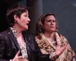 Melanie Bales (Dr. Gertrude Ladenburger) and Sarah Holt (Dr. Katherine Brandt)