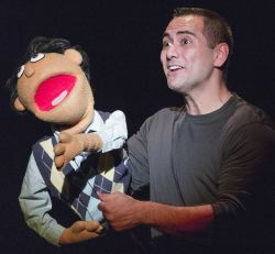 Princeton (puppet) and Sean Garcia
