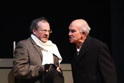 Gary Cramer (Bob Cratchit) and Fred Lash (Scrooge)