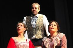 Caroline Schreiber (Mary), David Ruppe (Topper), and Rachel Watson (Ruth)