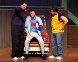 Christopher Harris (Dave), Michael Gale (Malcolm), and James Hotsko (Jerry)