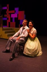 Joshua Wilson (Albert Peterson) and Holly McDade (Rosie Alvarez)