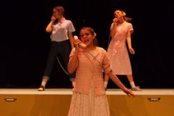 Telephone Teens: Laura Kline; with Clare Baker (Ursula Merkle) and Alyssa Ryberg in rear