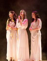 Sequoia Carillo (Thetis), Caitlyn Herron (Hera), Megan Fontenot (Aphrodite)