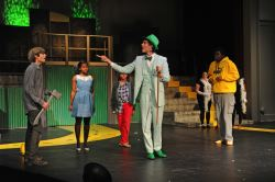 Josh Movius (Tinman), Adhana Reid (Dorothy), Jewell Dupree (Scarecrow), Alexander Collins (The Wiz), and TreVaughn Allison (Lion)