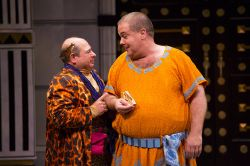 Danny Rutigliano as Marcus Lycus and Bruce Dow as Pseudolus