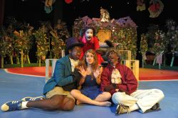 Tre Vaughn Allison (The Mad Hatter), Nancy Brooks (The Dormouse), Sasha Koch (Alice), Rob McPherson (The March Hare)
