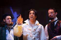 Robert Bowen Smith as Basil, Dallas Tolentino as Dorian Gray and Joseph Carlson as Lord Henry