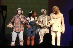 Ben Ribler (Scarecrow), Samantha Williams (Dorothy), Alejandro Cruz-Lemus (TinMan), Kamen Wilks (Lion)