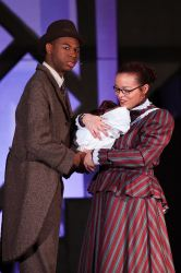 Coalhouse Walker Jr (Elgin Martin) is convinced that he and Sarah (Shenayra Quiles) will be able to make a better life for their son with their 'Wheels on a Dream'