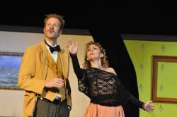 David Carter as Einstein, Melissa Dunlap as Suzanne