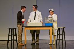 Mitchell Buckley (Charlie Gordon), Brandon Sanchez (Dr. Strauss), Olivia Joseph (Nurse)