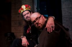 Ian Armstrong (King John) and Slice Hicks (Hubert)