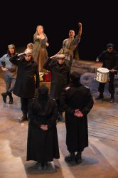 Kathleen Turner as Mother Courage and the cast