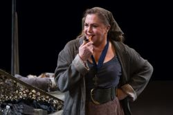 Kathleen Turner as Mother Courage