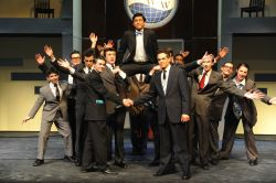 J. Pierpont (Joey Ledonio) and the ensemble in 'Brotherhood of Man'