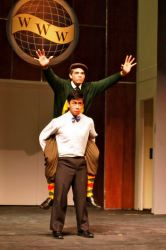 J. Pierpont (Joey Ledonio) and J.B. Biggley (Diego Rosende) show off their school spirit in 'Grand Old Ivy