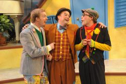 Matthew McGee as Octave, Michael Glenn as Scapin and Bradley Foster Smith as Sylvestre
