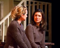 Elizabeth Keith (Claire) and Anna Fagan (Catherine)