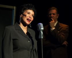 Freda Payne as Ella Fitzgerald and Tom Wiggin as her manager Norman Granz