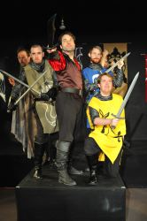 John Stange (Gloom Mage), Matthew Sparacino (Green Knight), Kyle McGruther (Prince Richard), Bob Sheire (Blue Knight) and Edward C. Nagel (Yellow Knight)
