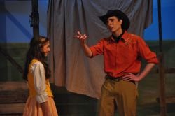 Tiffanie Snyder as Ado Annie and Cameron Mitchell as Will Parker
