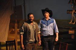 Lionel Jackson as Jud and Billy Weber as Curly