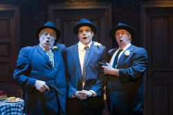 Fat Tony (Ed Dixon), Nick Cutter (Doug Carpenter) and Gino (Christopher Bloch) sing 'Who Put the Mob In'