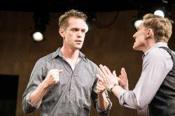Ben Cole (John) and Scott Parkinson (M)