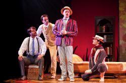 Tim Getman as George, Rob Jansen as Harris, Tom Story as Jerome, Alex Mills as Montmorency.