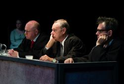 Paul Klingenberg as Judge Norris, Craig Miller as Judge Haywood, Tel Monks as Judge Ives.