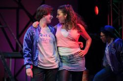 Chuck Cranston (Emily Barre) and Ariel (Jessica Schwartz) in the number 'The Girl Gets Around'