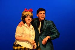 'It Takes Two' to fall in love: Tracy (Corrieanne Stein) and Link (Wyatt Oring) appear on the Corny Collins Show