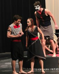 Jeffery Warren (Macbeth), Alicia Hartz (Lady Macbeth), Danny Sharp (Banquo)