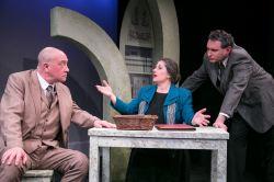 Conrad Feininger as Burge, Laura Giannarelli as Frances Barnabas, and Michael Avolio as Conrad Barnabas