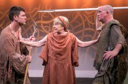Adam (Brit Herring), Eve (Lynn Steinmetz) and Cain (Conrad Feininger)