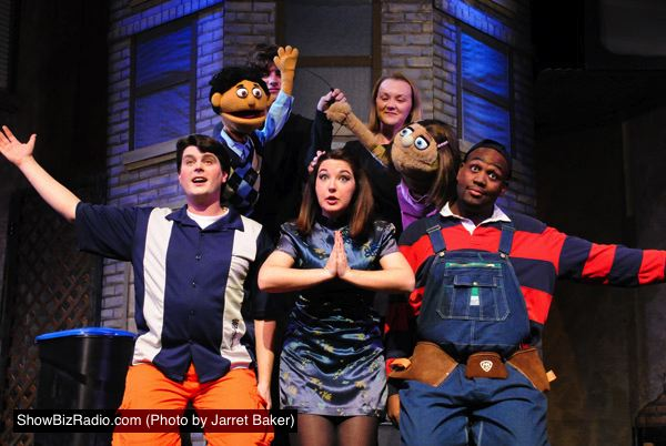 Avenue Q Christmas Eve.Devon Ross Princeton Heather Friedman Kate Monster Sam